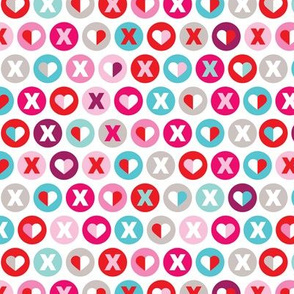 xoxo love and kisses valentine lover wedding pattern