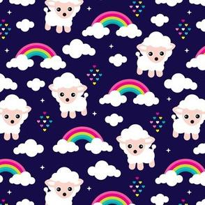 Rainbow dreams and sleepy night sheep counting