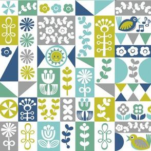 Folky Floral Geometrics (cool)