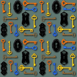 Illustrated Antique Key Pattern