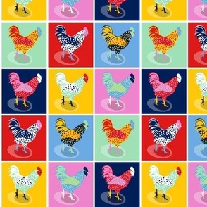 Pop Art Chickens - smaller