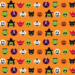 Kawaii Halloweenies - Orange