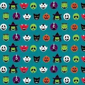 Kawaii Halloweenies - Teal