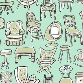 Sketched Chairs & Tables on Mint