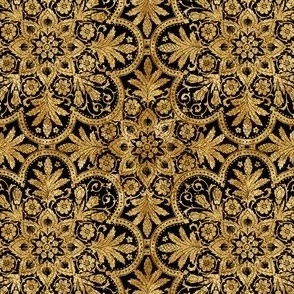 Bourgogne Tile ~ Gilt Gold and Black