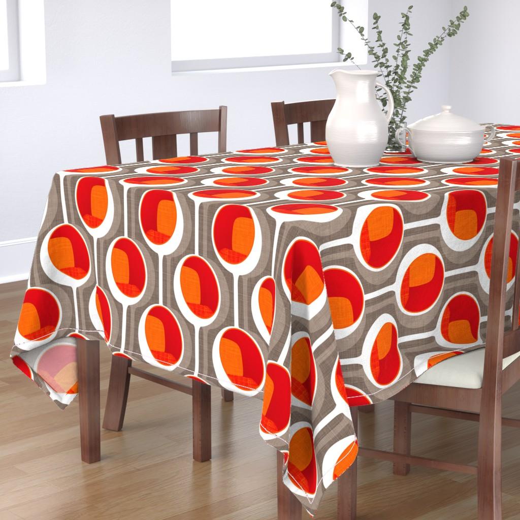 Bantam Rectangular Tablecloth featuring Chair Pod White by spellstone