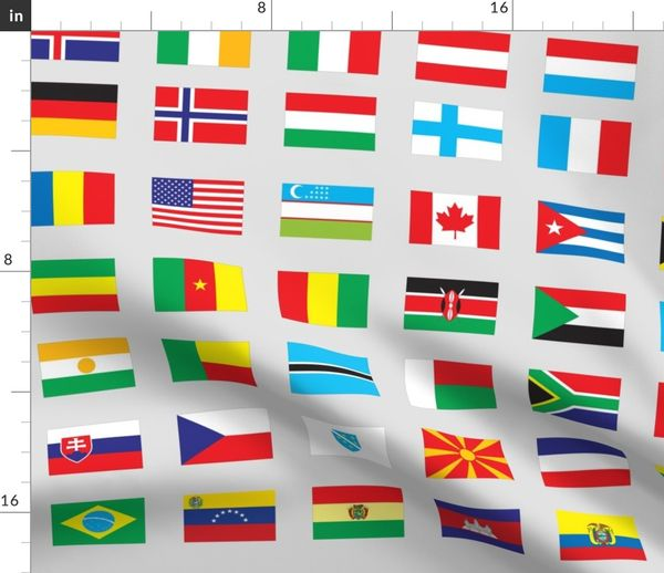 Modern Flags Of The World Spoonflower