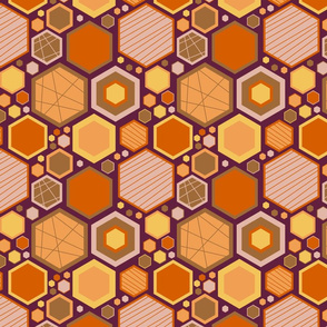 Hip Hexagons (Earthy)