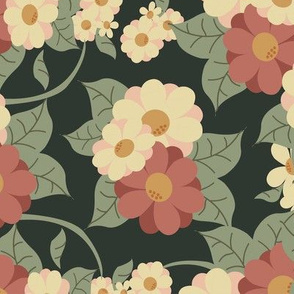 Vintage Floral Garden Fabric