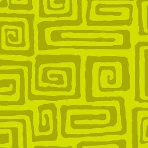 square spiral - olive