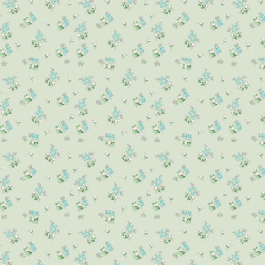 Vintage Bloom Small Green