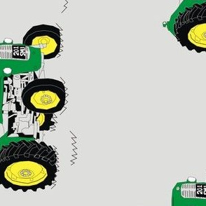 Green Tractor Rotated