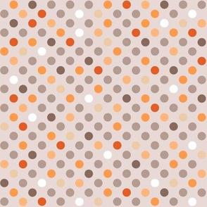 Cat polkadot orange
