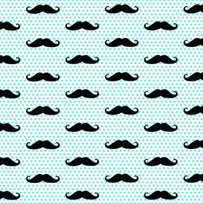Mustache (blue and black)