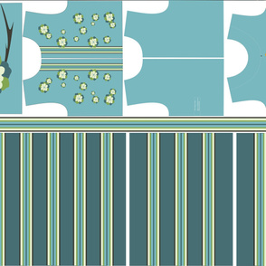 Blue Flower Dress Sewing Kit -  Size 7