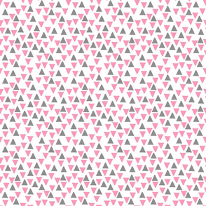 Random Triangles Dark Pink and Grey
