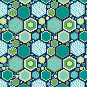 Hip Hexagons (Ocean)