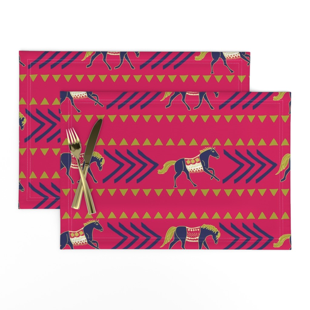 Lamona Cloth Placemats featuring Saddle Up by joyfulroots