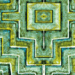 City Palace Jaipur, Green Tiles, Large