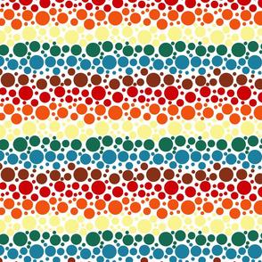 Chocolate Rainbow Dots - Small