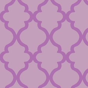 Quatrefoil - Orchid on Mauve