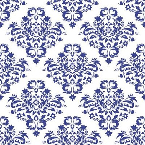 Damask - Royal Blue