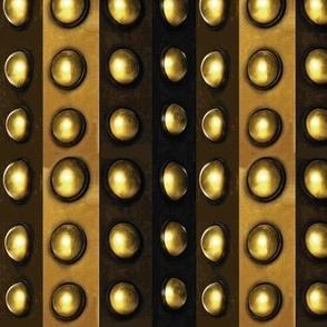 Striped Metallic Dots, Bronze, Brass, Gold