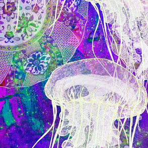 Blue Plates and Jellies in purple