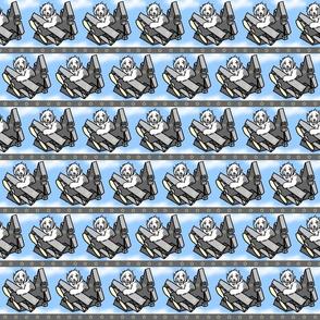 When Sheepdogs fly - blue border
