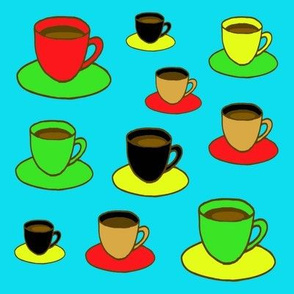 Coffee Cups in Color