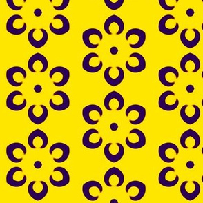 Flower Petals on Yellow