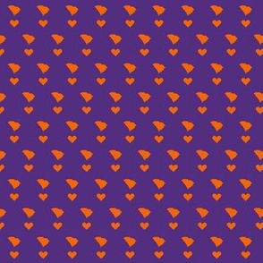 SC Little Hearts - purple&orange