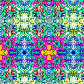 Psychedelic Flower Small