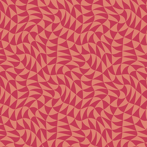 triangle swirl in reds