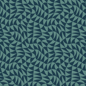 triangle swirl in deep slate blue