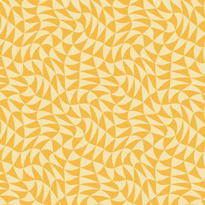 triangle swirl in Christmas golds