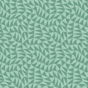 triangle swirl in spring green