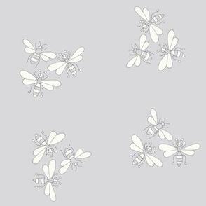 Flower Bees, Grey