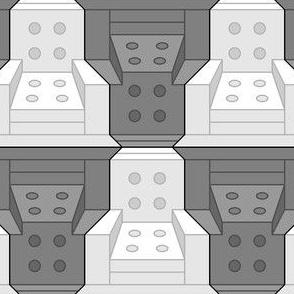 03523302 : armchair 2x - spaceage