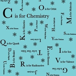 C is for Chemistry (Blue and Black)