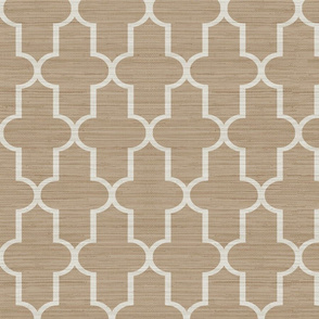 Textured Moroccan Quatrefoil in Tan