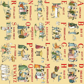 "Kate Greenaway's ""A Is For Apple"" ~ Border Print"