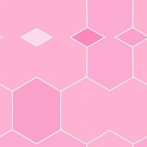 Fabulously Pink Hexigonal Diamonds