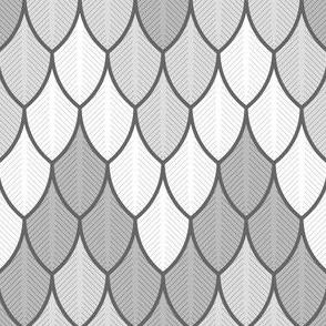 zigzag feathers - grey