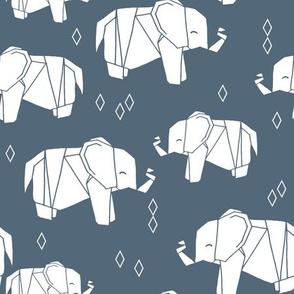 Origami Elephant - Payne's Grey by Andrea Lauren