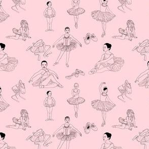 Pretty Ballerinas on Pale Pink