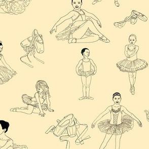 Ballerinas Dancing on Cream.