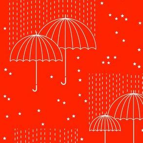 Umbrellas (orange)
