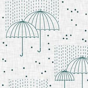 Umbrellas (blue)
