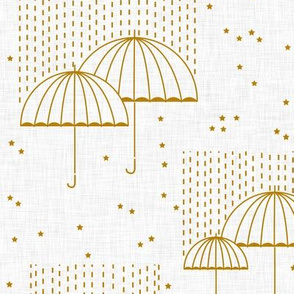 Umbrellas (gold)